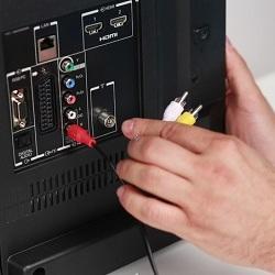 Подключение приемного оборудования к телевизору