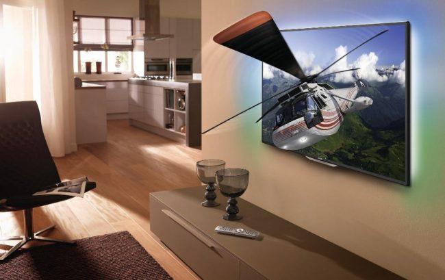 LED-телевизоры Смарт ТВ в интерьере