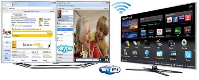 телевизор подключается к wifi
