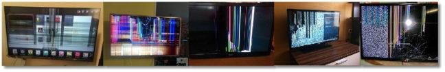 неисправные матрицы на телевизоре