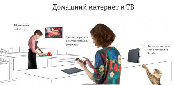 Домашний Интернет с домашним ТВ от Билайн - выгодно