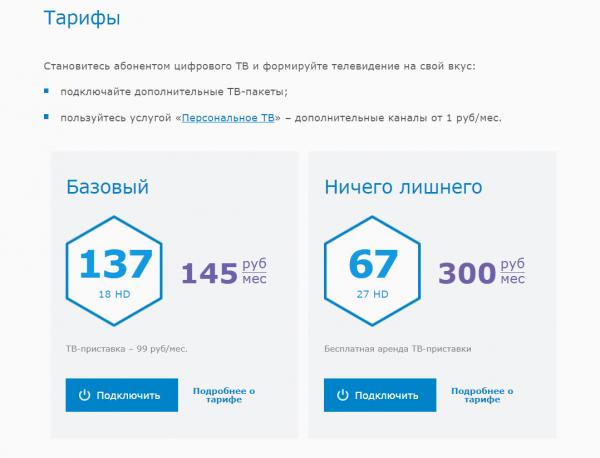 """Тарифы """"Базовый"""" и """"Ничего лишнего"""" от МГТС"""