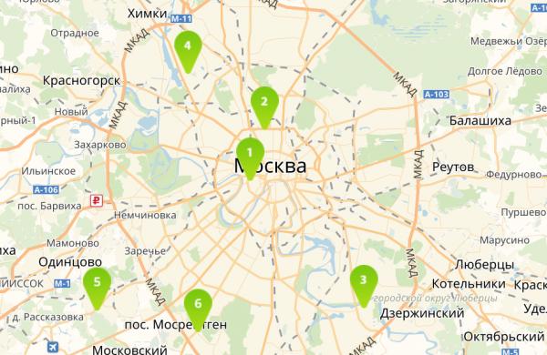 Офисы ОнЛайм в Москве адреса